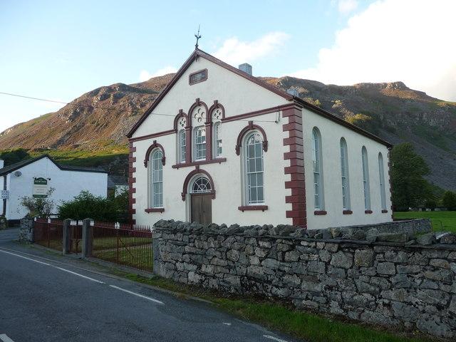 Carmel chapel in Llangynog