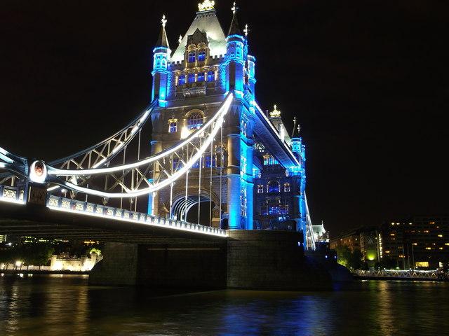 Tower Bridge And Blue Lights London 169 David Anstiss