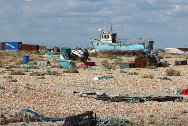 Fishing boat area at Dungeness