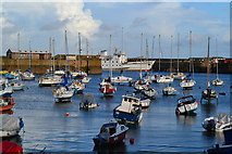 SW4730 : Penzance Harbour with Scillonian III seen alongside the southern pier by David Martin