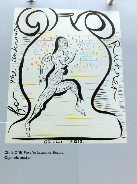 Olympic Poster: For the Unknown Runner by  Chris Ofili