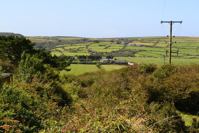 View down footpath near Cripplesease