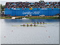 SU9377 : Paralympics rowing - GB four winning gold by David Hawgood