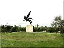 SK1814 : Parachute Regiment memorial by Andrew Abbott