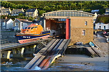 SW3526 : Sennen lifeboat station with the lifeboat on the slipway by David Martin