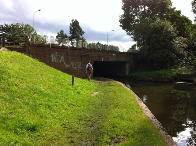 A38 crosses the Coventry Canal