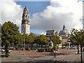 ST1876 : Cardiff City Hall by David Dixon