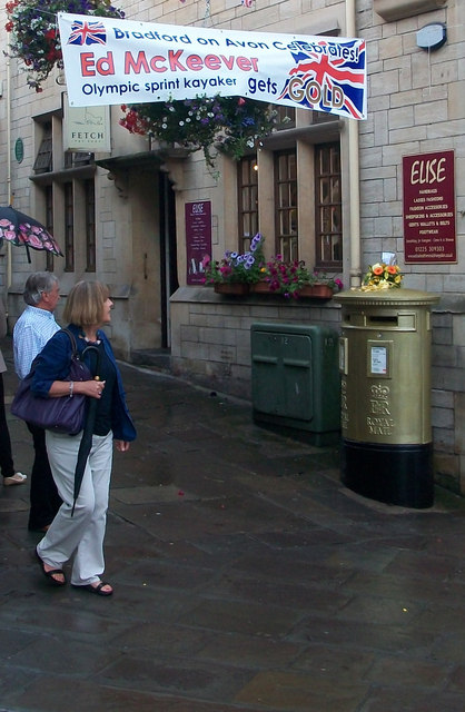 Gold Post Box for Ed McKeever