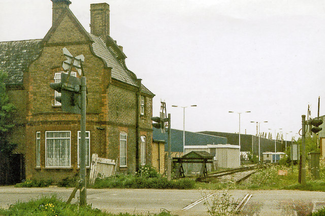 Site of Colnbrook station, 1986