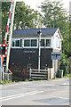 SO4633 : Tram Inn signalbox and crossing by roger geach