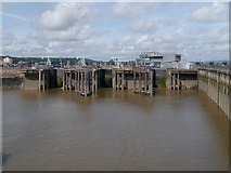 ST1972 : Cardiff Bay Barrage, Sea Locks by David Dixon