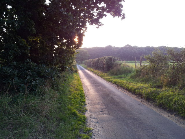 Sunset over Staithe Road