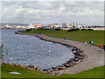 ST1972 : Cardiff Barrage, Wales Coast Path by David Dixon
