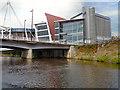 ST1775 : River Taff, Wood Street Bridge and Millennium Plaza, Cardiff by David Dixon