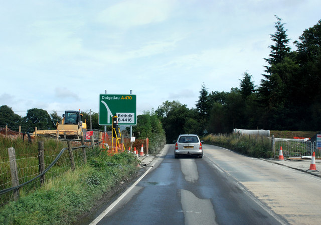 Road improvements on the A470