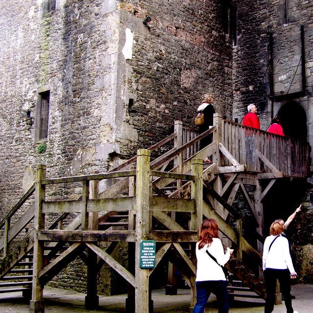 Bunratty Folk Park - Site #4 - Castle - Entrance to Castle Interior