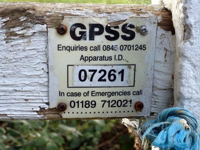 GPSS marker plate
