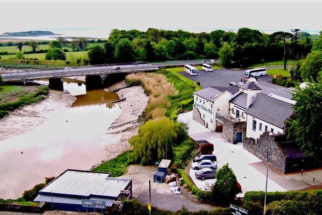 Bunratty Castle - SE Tower View - Owenogarney River, N18, Blarney Woollen Mills