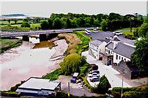 R4560 : Bunratty Castle - SE Tower View - Owenogarney River, N18, Blarney Woollen Mills by Suzanne Mischyshyn