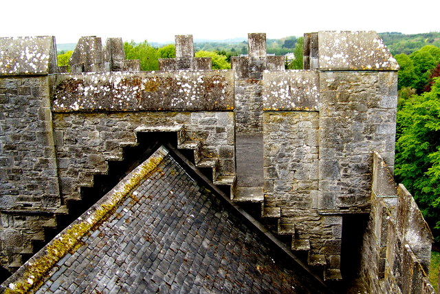 Bunratty Castle - NW Tower View - Roof over The Great Hall