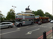 TQ2879 : Silver Routemaster Bus at Hyde Park Corner by PAUL FARMER