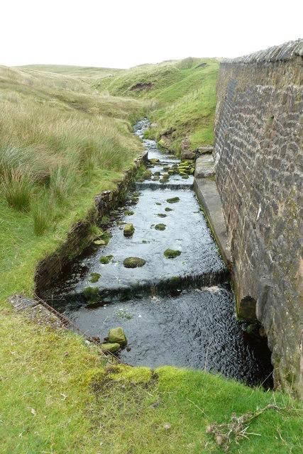 Stream running alongside the B6478