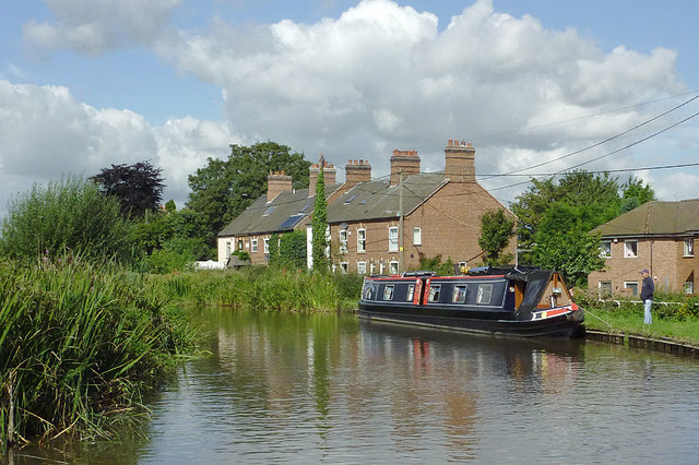 Birmingham and Fazeley Canal east of Whittington, Staffordshire
