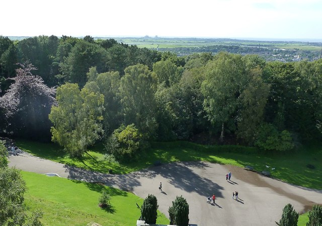 Lancaster - View westwards from Ashton Memorial