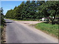 TM4394 : Road past Woodstock Farm by Helen Steed