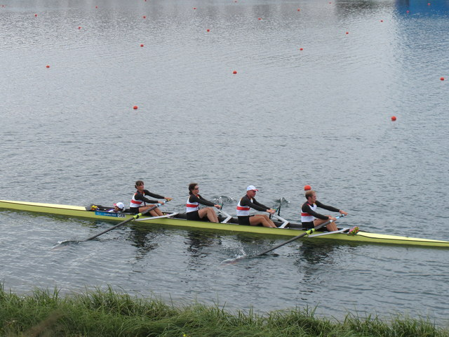 Paralympics rowing, GB mixed coxed four on a lap of honour