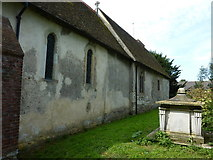 TQ9963 : The north wall of the Church of St. Mary, Luddenham by pam fray