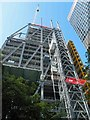 TQ3381 : The  'cheesegrater' steel structure being erected by Steve  Fareham