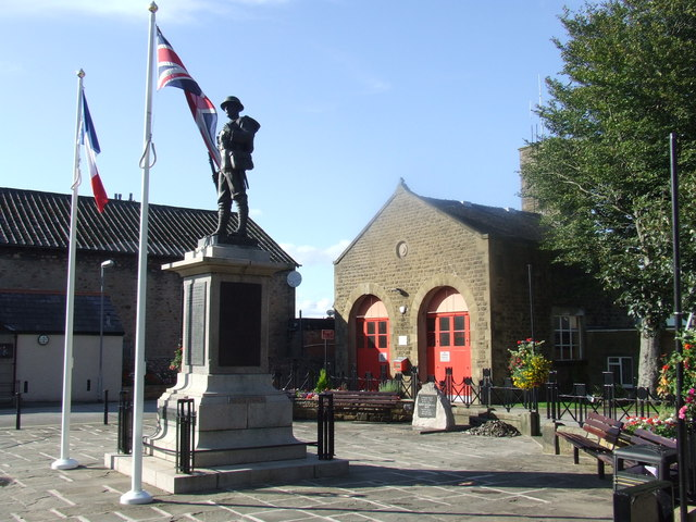 War memorial and fire station, Carnforth
