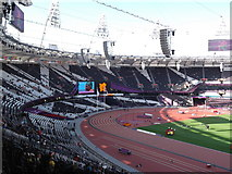 TQ3783 : The southern end inside the Olympic Stadium by Robin Sones