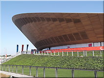 TQ3785 : The curve of the Velodrome, Olympic Park E15 by Robin Sones