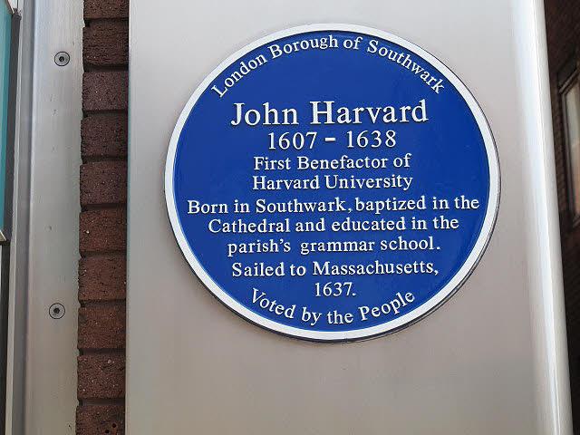 John Harvard blue plaque | Open Plaques