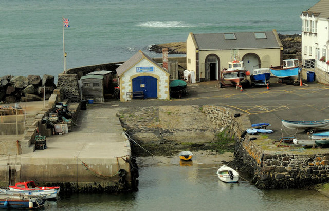 Portballintrae harbour (elevated view)
