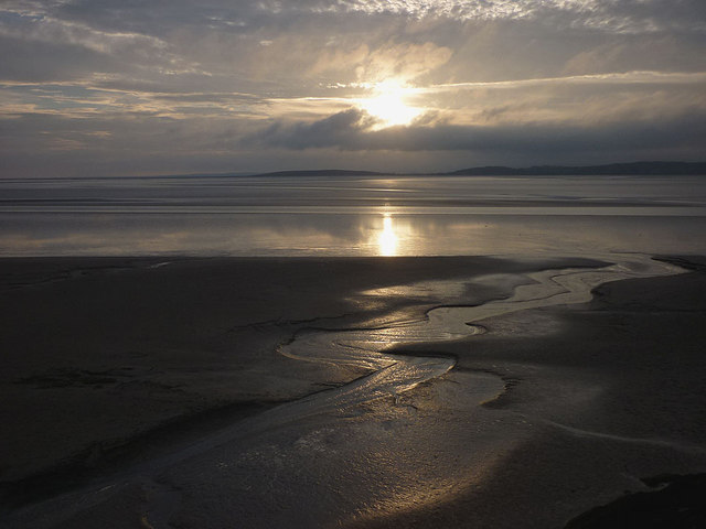 Evening falls over the sands off Silverdale (2)