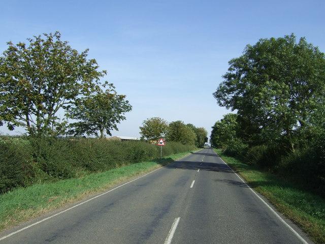 Thorney Road (B1443) heading east