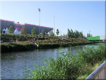 TQ3785 : River Lea in the Olympic Park by Paul Gillett