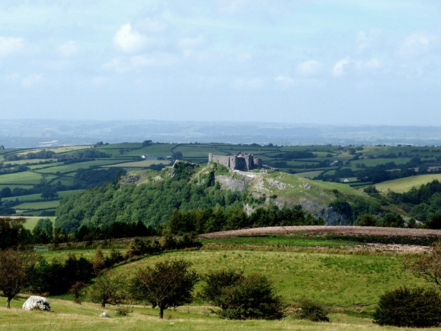 Cerreg Cennen Castle from the lower slopes of the Black Mountain