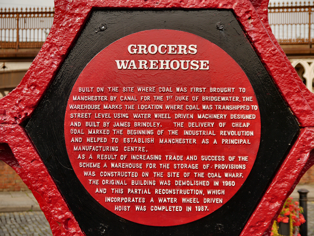 Grocers' Warehouse Cog Wheel Inscription