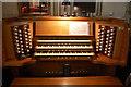 TQ8109 : Organ console, Holy Trinity Church, Hastings by Julian P Guffogg