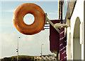 """C8138 : """"Donut"""" sign, Portstewart by Albert Bridge"""