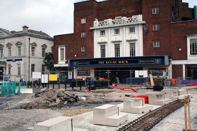 Rochdale Town Centre:  The 'Regal Moon'