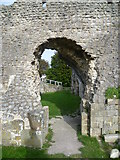 TQ4109 : Ruins of the Priory of St Pancras, Lewes - the entrance to the dormitory by Marathon