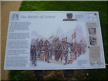 TQ4109 : Information board about the Battle of Lewes by Marathon