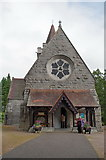 NO2694 : Crathie Parish Church, Porch by Alexander P Kapp