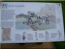 TQ4109 : Information board about the Herb Garden, Lewes Priory by Marathon