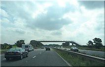 SD5236 : Footbridge over the M6 by Anthony Parkes